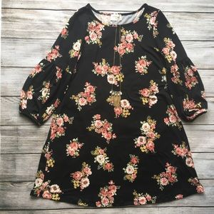 Black floral Everly dress